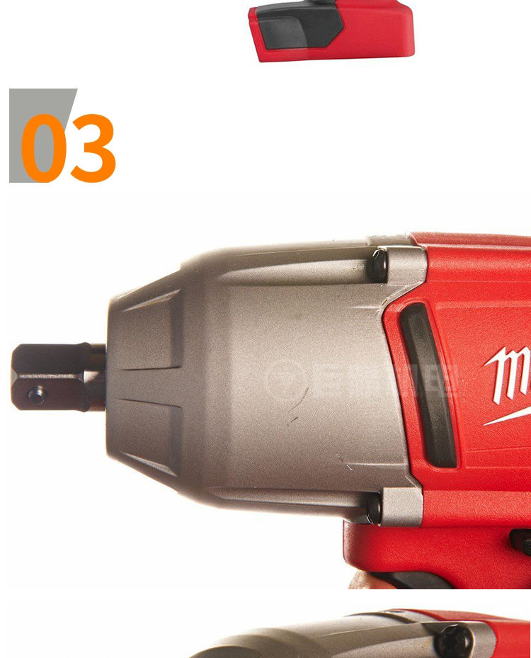 "Miwaukee美沃奇HD18 HIW-402C充电式大扭矩电动1/2""冲击扳手"