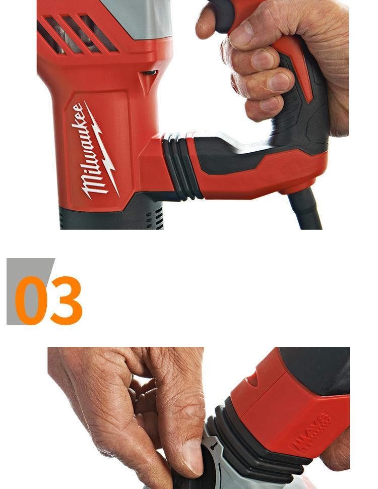 Milwaukeeme美/米沃奇PLH 28E 800瓦28毫米L型多功能电锤锤钻电动
