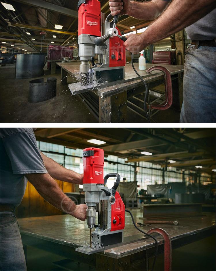 Milwaukee美/米沃奇MD E41 1200W重型磁力钻吸铁钻磁座钻空心钻