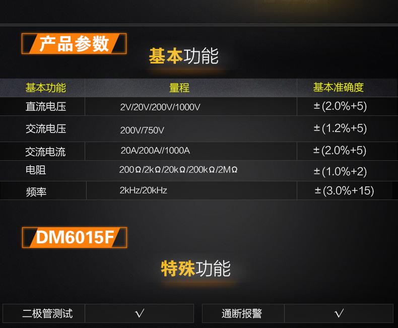 victor胜利 6015F 钳形表