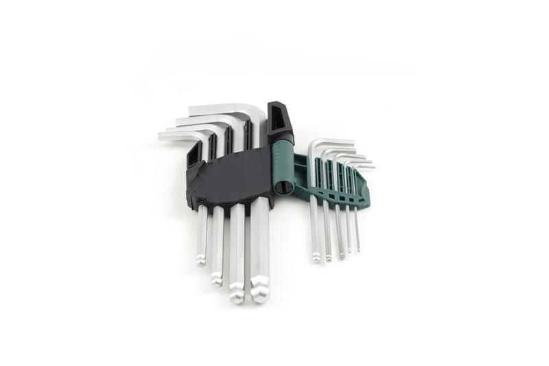 世达9件套铬钒钢加长球头内六角扳手9105A