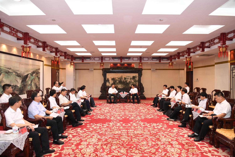 中国能建集团汪建平拜会湖南省省长许达哲