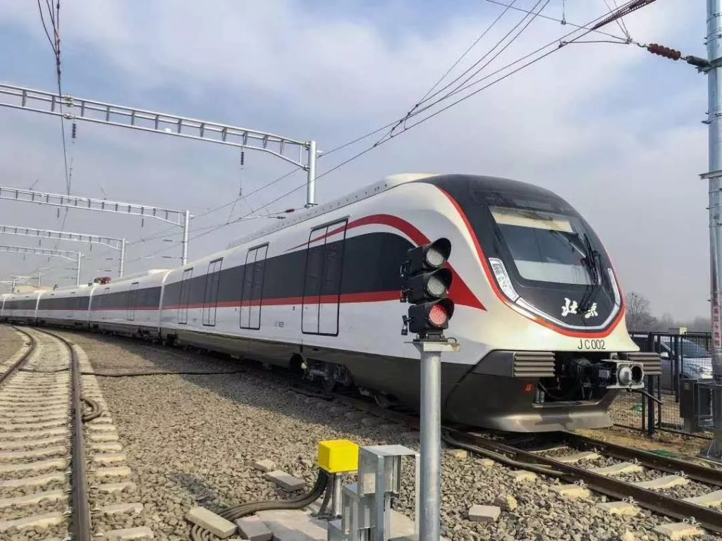 習近平乘坐北京新機場線軌道列車,中車四方制造