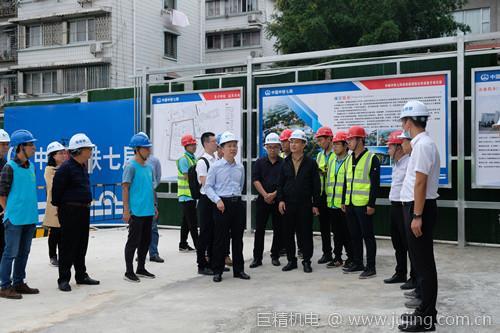 桂林市政府督查专员申光明到中铁七局榕湖饭店项目工地开展调研工作