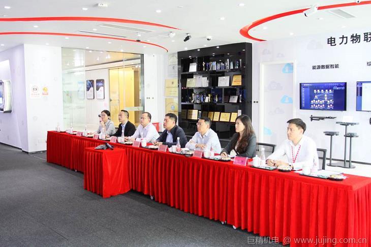 青岛环保产业园发展服务中心主任、党总支副书记吕思龙一行来访力维智联