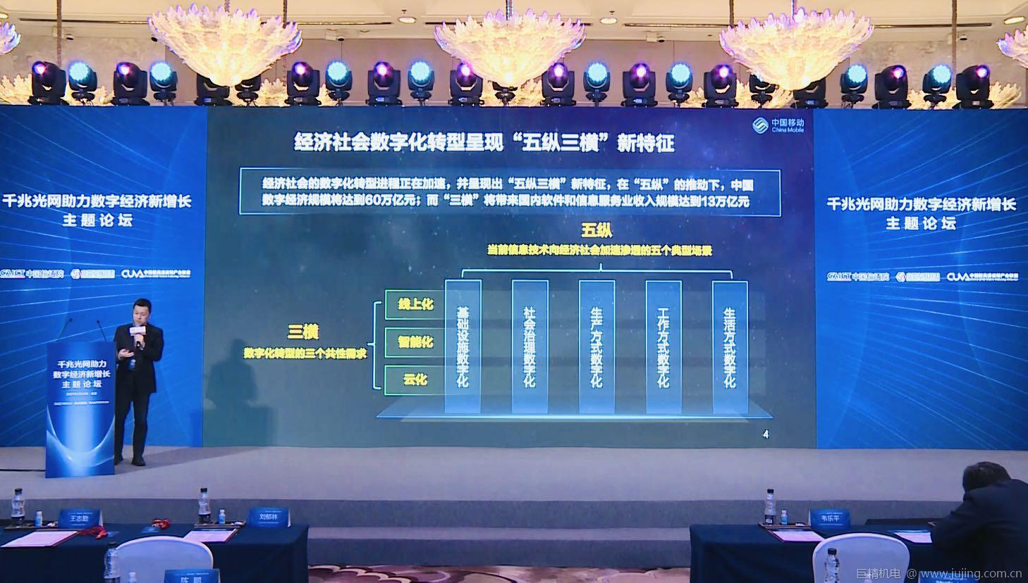 """中国移动段晓东:千兆智能光网筑牢""""数智云网""""发展基石"""