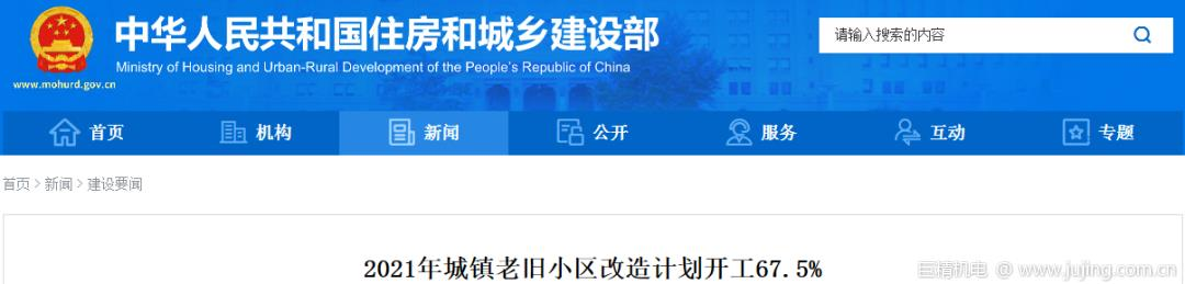 """021年城镇老旧小区改造计划开工67.5%"""""""
